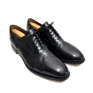 Johnston & Murphy Black Leather Oxfords